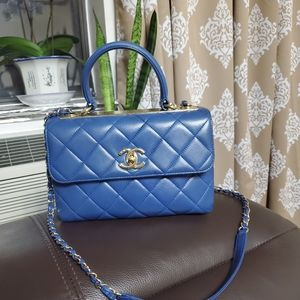 CHANEL small Trendy CC bag in blue